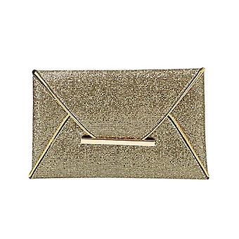 Women Evening Bag Pouch Sequins Envelope, Handbag Sparkling, Party Solid