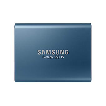 سامسونج t5 500 غيغابايت USB 3.1 gen 2 (10 جيجابت في الثانية، نوع-ج) محرك الأقراص الصلبة الخارجية (SSD المحمولة) مغرية