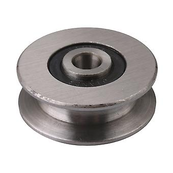 4x0.8cm R 0.4CM Bearing Hard Steel U-Groove Pulley Embedded Bearing