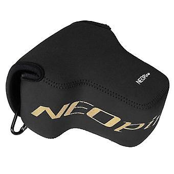 NEオピンネオプレンショックプルーフソフトケースバッグニコンP900sカメラ用フック付き(ブラック)