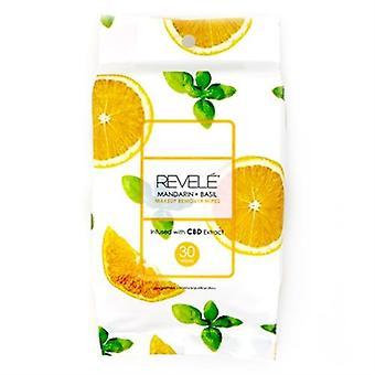 Revele Mandarin & Basil Makeup Remover Wipes 30 Sheets