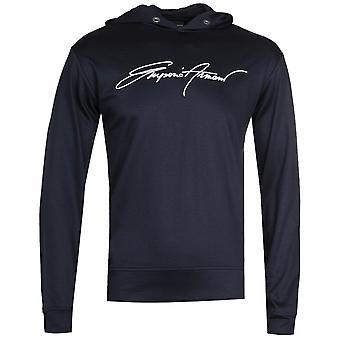 Emporio Armani Navy Felpa Hooded Sweatshirt
