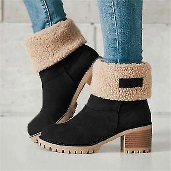 Ladies Winter Fur Warm Snow & Wool Booties Ankle Boots/comfortable Shoes Plus