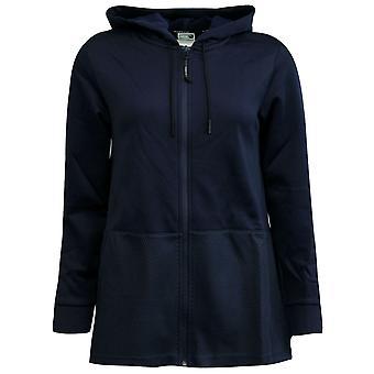 Puma Evo Drapey Zip Up Womens Hoody Sweatshirt Navy Track Top 571672 08 P5F