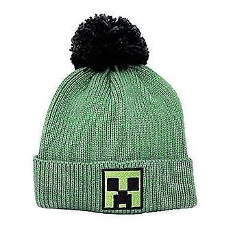 Minecraft Block Face Pom Pom Beanie Hat