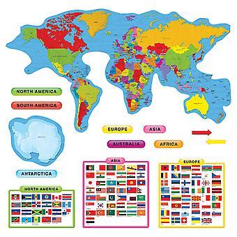 Conjunto de Tablones de Anuncios de Continentes y Países