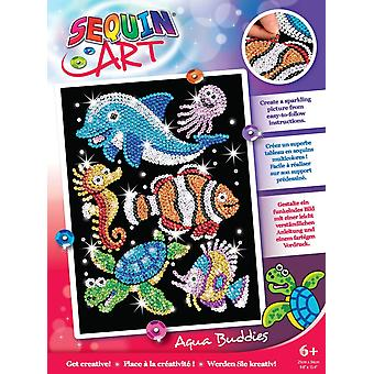 Sequin art sealife