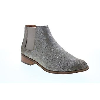 Frye & Co. Mila Chelsea  Womens Gray Suede Ankle & Booties Boots