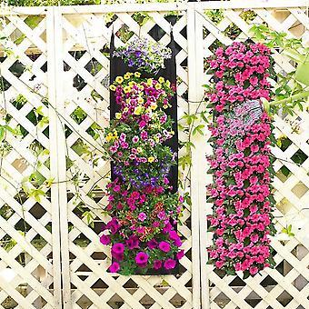 Vertical Wall Hanging Planting Bags 7 Pockets Grow Bag Planter Garden Vegetable