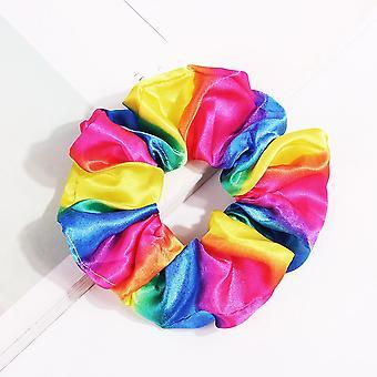 Dámské hearwear kravaty pruhované, Scrunchies Culík držák na vlasy Lano