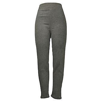 Cuddl Duds Leggings Fleecewear Stretch Leggings Solid Gray A369295