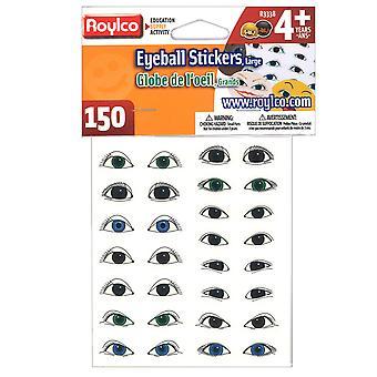 Roylco Large Eyeball Stickers, 150/Pkg