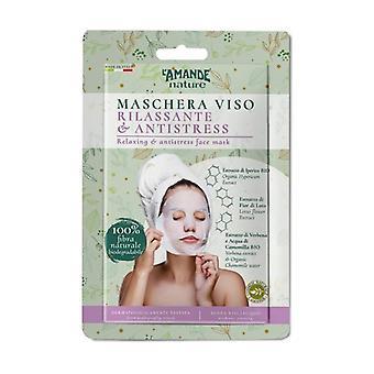 Relaxing anti-stress face mask 1 unit