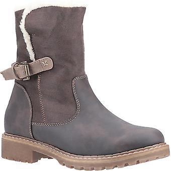 Divaz Melanie Womens Ladies Ankle Boots Brown UK Size