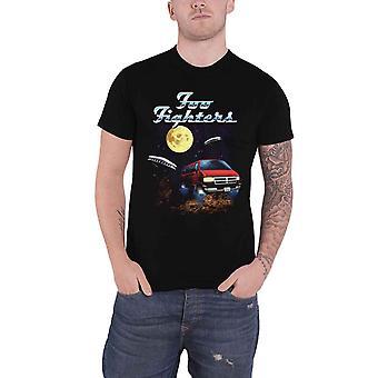 Foo Fighters T Shirt Van Tour Band Logo  new Official Mens Black