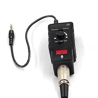 Προσαρμοστής μικροφώνου/κιθάρων με τη δύναμη φαντασμάτων 48v