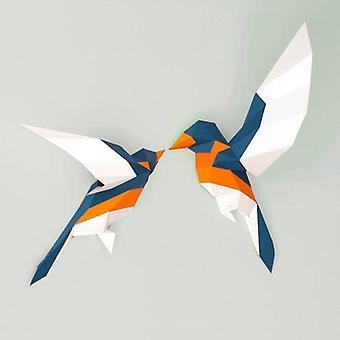 3d Paper Model Love Birds