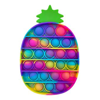 Stuff Certified® Pop It - Fidget Anti Stress Toy Bubble Toy Silicone Pineapple Rainbow