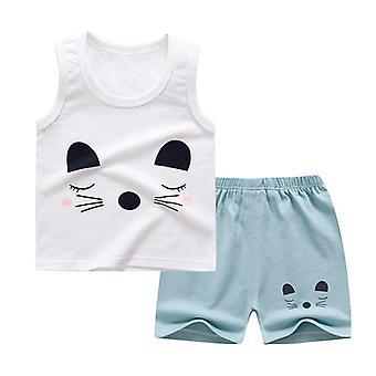 Set de ropa de verano con camiseta y pantalones cortos (set-1)