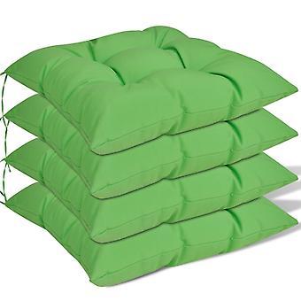 vidaXL setepute 4 stk. 40 x 40 x 8 cm grønn