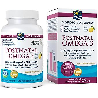 Nordic Naturals Postnatal Omega-3 1120 mg Lemon 60 Softgels