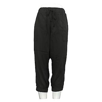 Side Stitch Women's Petite Pants Pull On Joggers Black A375133
