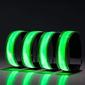 Usb Charging Led Luminous Night Running Armband Bracelet Night Reflective Belt