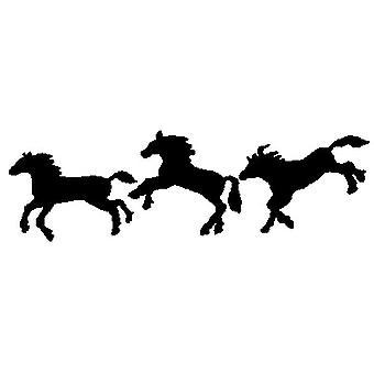 Timbro montato sul legno dei cavalli danzanti