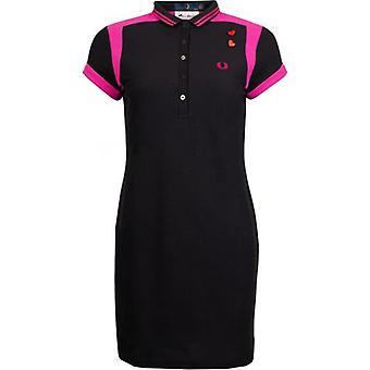 Fred Perry x Amy Winehouse Fundación Amy Panelled Piqué vestido de camisa