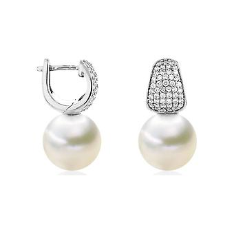 Luna-Pearls Ohrringe 750 WG Südsee-Perle 98 Brill. H SI 0.51ct - HS1074_11-12mm