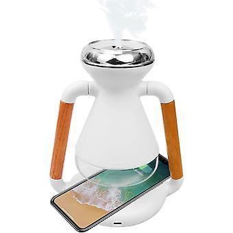 FengChun Aroma Diffusor mit Qi Wireless Ladegerät, 230ml Ultra Leise Luftbefeuchter Ultraschall mit
