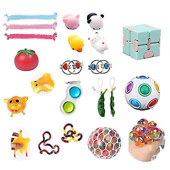 20st Pack Fidget Leksaker Sensory Toy Set Antistress Relief Fidget Leksaker