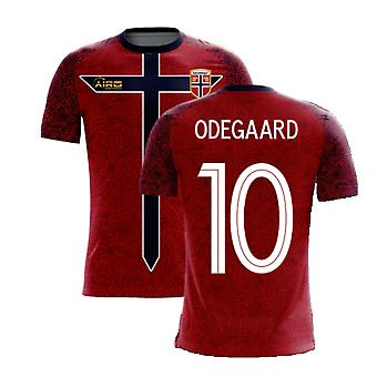 Norja 2020-2021 Home Concept Football Kit (Airo) (ODEGAARD 10)