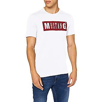 Mustang Alex C Logo Tee T-Shirt, White, L Man