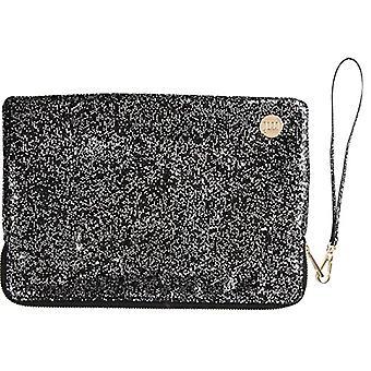Mi-Pac Small Pouch Notebook Pocket, 25 cm, Glitter Silver/Black