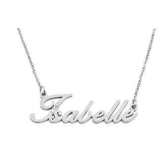 Kigu Isabelle - Personalized necklace with name milan, in silver plated packaging 18 ct