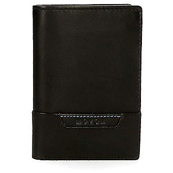 Movom Highway Vertical wallet with Black 8.5x11.5x1 cms Leather coin purse