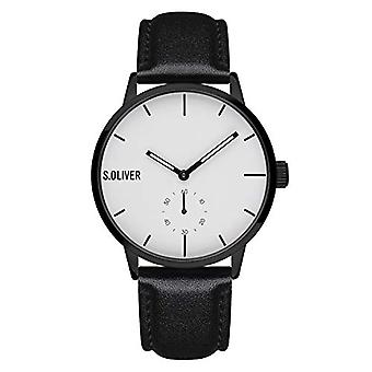 s.Oliver Analogueic Watch Quartz Man with Fake Leather Strap SO-4180-LQ