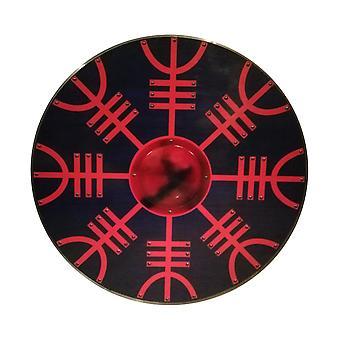 Træ slaviske Viking Helm Af ærefrygt håndlavede skjold SWE36