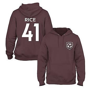 Declan rice 41 club style kids player football hoodie