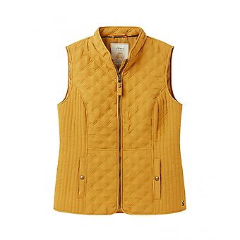 Joules Minx Womens Quilted Gilet/bodywarmer - Caramel