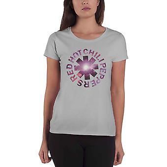 Red Hot Chili Peppers T Shirt Cosmic Logo new Official Womens Skinny Fit Grey