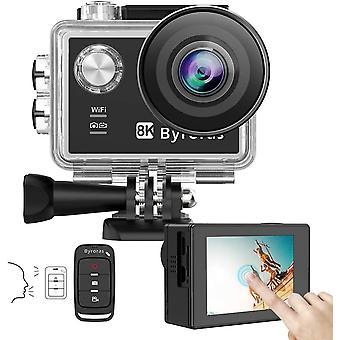 FengChun BYRORAS 8K/15fps Action Cam 4K/60ps Videokamera 20MP Action Kamera WiFi 2.0'' Touchscreen