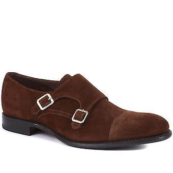 Loake by Jones Bootmaker Mens Idaho Suede Monk Shoes