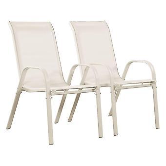 """Juego de 2 sillas jardín Textileno """"Cordoba"""" - Phoenix - Crudo"""