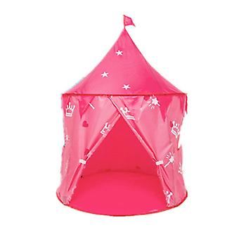New Girls Play Tent Portable Indoor Toy Princess Castle Girls Tent Pink ES9397