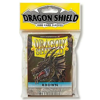 Dragon Shield Japanese Size Brown Card Sleeves - 50 Sleeves