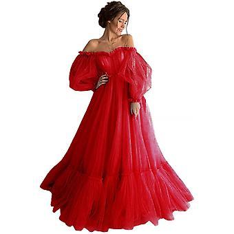 Robe princesse à manches longues, robe de soirée formelle en dentelle