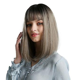 Syntetické parochne pre ženy čierna ombre šedá blondína strieborná hnedá Afroameričanka