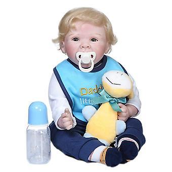 55Cm originalt design bebe dreng dukke genfødt blød klud krop nuttede nyfødte baby naturtro smilende sød ansigt ægte touch dukke